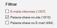 Filtrar todos os emails informais